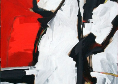 """Red, Black, White abstract #1""by Brendan Hehir 2010"