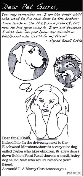 Dear Pet Guru: Dec '12 Jan '13