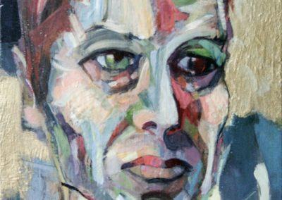 """""""Bowie"""" acrylic on canvas by Brendan Hehir"""