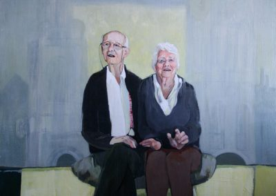 """Tony & Stella"" acrylic on canvas by Brendan Hehir"