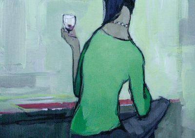 """Pinot"" acrylic on canvas by Brendan Hehir"