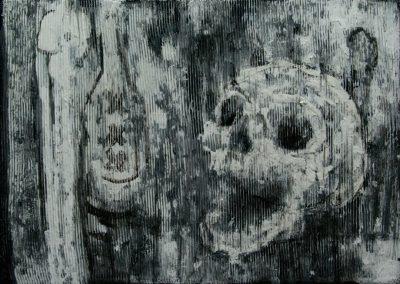"""Skull"" acrylic on canvas by Brendan Hehir"