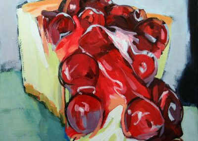 """Dark Cherry Cheese Cake"" painting by Brendan Hehir"